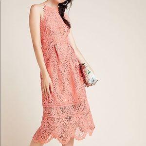 Anthropologie Ava Lace Midi Dress